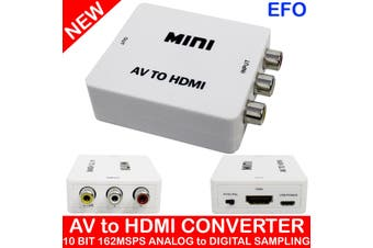 1080P Av To Hdmi Video Converter Cvbs Composite Rca Hdtv 10Bit Analog To Digital
