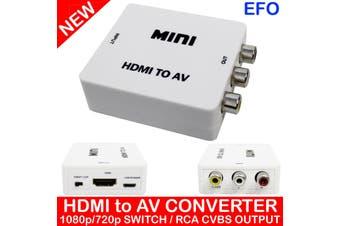 Hdmi To Av Cvbs Rca Composite Video Converter Adaptor 1080P Support Hdmi V1.3+