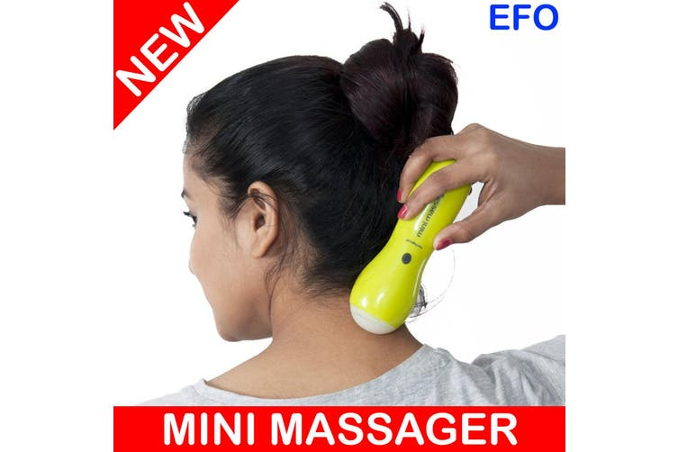 Portable Mini Massager Stick Relaxing Vibration Massage Led Light Battery Power
