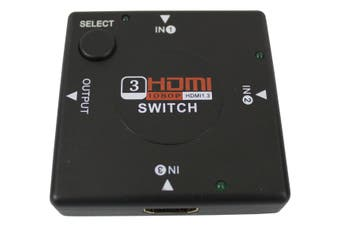 Mini Hdmi 3 To 1 Switch Switcher 3 Port Hdmi Switch Hdtv Ps3 1080P Black