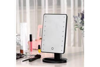 Led Light Make Up Cosmetic Mirror W/ 10X Magnification Battery Usb Power Black