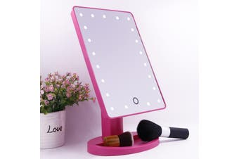 20 Led Light Make Up Cosmetic Mirror W/ 10X Magnification Battery Power Pink