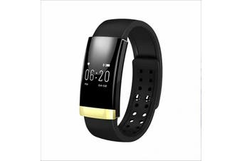 Bluetooth V4.0 Smart Fitness Tracker Watch Rechargeable Heart Rate Monitor - Gold