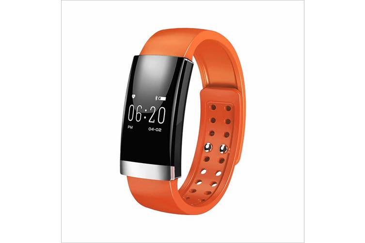 Bluetooth V4.0 Smart Fitness Tracker Watch Rechargeable Heart Rate Monitor - Orange