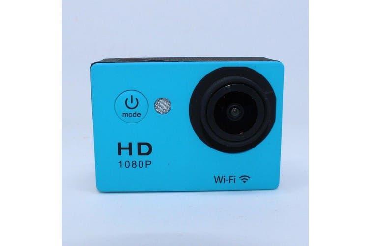 N9Se Portable 30M Waterproof Wi-Fi Loop Recording 1080P Action Camera Blue