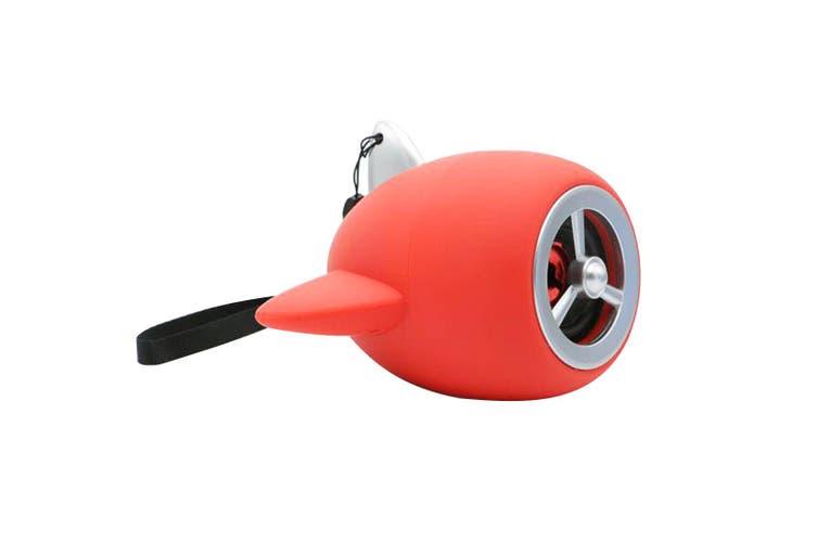Bluetooth V2.1+Edr Mini Wireless Speaker Aircraft Portable Usb Microsd Red