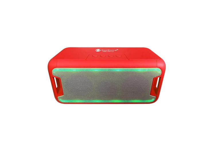 Bluetooth V2.1 Portable Wireless Stereo Speaker Rechargeable Led Usb Tf Fm Red