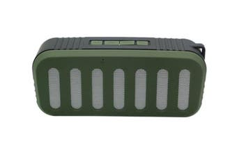Bluetooth V2.1 +Edr Mini Stereo Speaker Wireless Rechargeable Usb Tf Fm Green