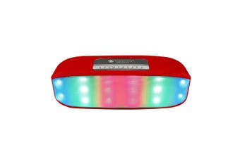 Bluetooth V2.1+Edr Wireless Speaker Led Party Light Portable Usb Tf Red