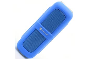 Bluetooth V2.1 Portable Stereo Speaker Water Resistant Usb Tf Fm Blue