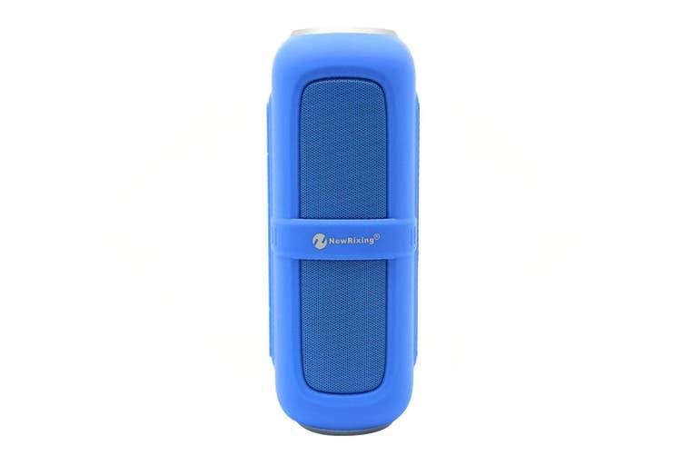 Bluetooth V2.1 Portable Stereo Speaker Water Resistant Usb Tf Fm Blue