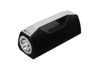 "Bluetooth V5.0 Portable Speaker Led Flash Light Torch Usb Aux €"" Black"