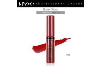 Nyx Butter Gloss Lip Gloss Cherry Pie Shinny Red Plumping #BLG12