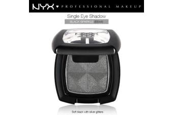 Nyx Single Eye Shadow #Es44 Black Sparkle Shimmer Soft Black Sliver Glitter