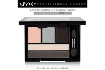 Nyx Love In Florence Eye Shadow Pallette Trust By The Trevi Nude Silver #Lif06