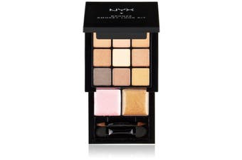 Nyx Bronze Smokey Look Kit Eye Shadow Lip Colour Mirror Natural Brown #S109B
