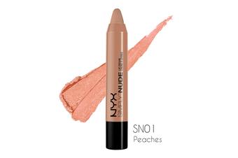 Nyx Simply Nude Lip Cream #Sn01 Peaches Creamy Velvet Satin Peach Pink