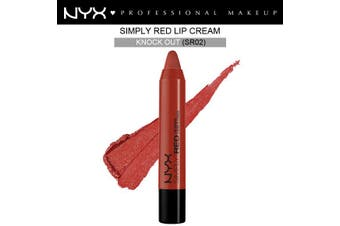 Nyx Simply Red Lip Cream #Sr02 Knock Out Deep Plum Creamy Red