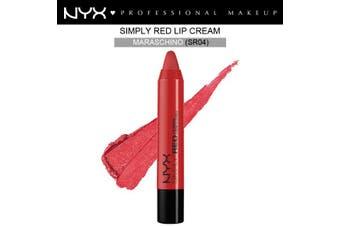 Nyx Simply Red Lip Cream #Sr04 Maraschino Bold Creamy Cherry Red