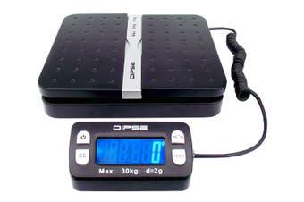 30Kg (66Lb) Digital Postal Scale Blue Backlit Lcd Display 2G Graduation Post