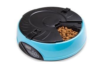330Ml X6 Meal Digital Lcd Automatic Pet Feeder Dog Cat Food Bowl Timer Blue