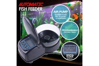 Fish Feeder Automatic Food Dispenser  Digital Fish Feeding Aquarium Tank Timer