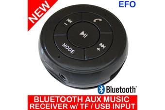 Handsfree Bluetooth Car Kit Aux Music Receiver + Tf Card / Usb Input Pt-750 Blk