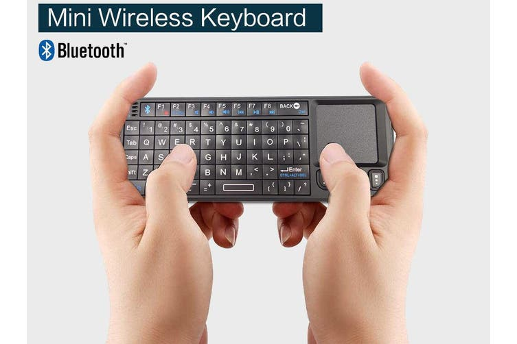 Bluetooth Ultra Mini Wireless Keyboard Touchpad Presenter Rechargeable Mobile Pc