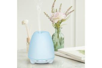 100Ml Humidifier Aromatherapy Diffuser 7 Colour Led Compact Design - White