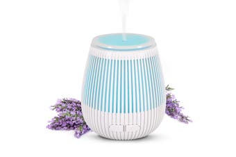 100Ml Humidifier Aromatherapy Diffuser Usb Powered 7 Colour Led - White