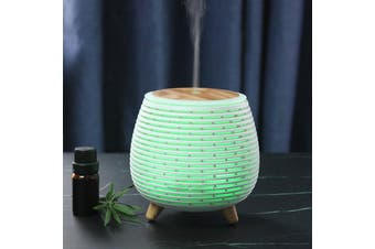 100Ml Humidifier Aromatherapy Diffuser 7 Colour Led Ultrasonic Mist - White