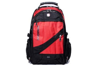 """Wenger Swissgear 15.6"""" Laptop Backpack Bag W/ Mp3 Headphone Connection Sa1418 Red"""