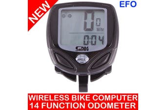 Wireless Bike Computer Lcd Speedometer Odometer Time Bicycle Waterproof Sd-548C