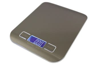 Stainless Steel Electronic Kitchen Scale Backlit Lcd 5000G (11Lb) Capacity