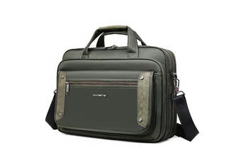 "15"" Laptop Carry Bag Briefcase Messenger Shoulder Bag Svvtss Cfap - Green"