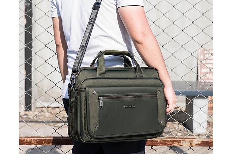 """15"""" Laptop Carry Bag Briefcase Messenger Shoulder Bag Svvtss Cfap - Green"""