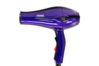 TODO 2000W Ionic Ceramic Anti Frizz Hair Dryer Digital Temperature Lcd Purple