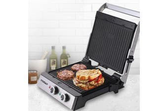 TODO 2000W Sandwich Press Contact Health Grill Flat Grill Griddle Plate Melts Toast