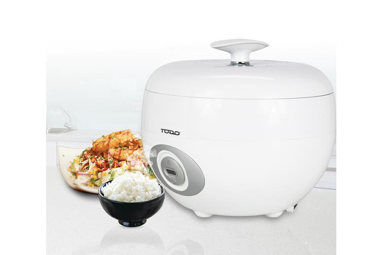 TODO 1.2L Rice Cooker 6 Cup Capacity 500W Steam Tray Spoon Cup Keep Warm
