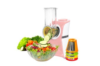 2 In 1 Frozen Fruit Dessert Maker Electric Salad Maker Food Chopper Shredder - Pink