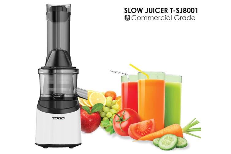 Slow Juicer Commercial Grade S/Steel Juice Extractor Electric Fruit Vegie Press