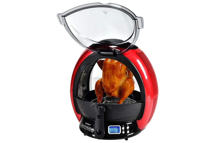 1500W Healthy Air Fryer Rotating Oven Multi Cooker Grill Fry Digital Control