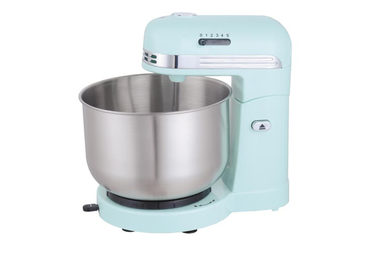 TODO 350W 5 Speed Electric Stand Mixer W/ 3.5L Stainless Steel Bowl Retro Blue T-Sm780