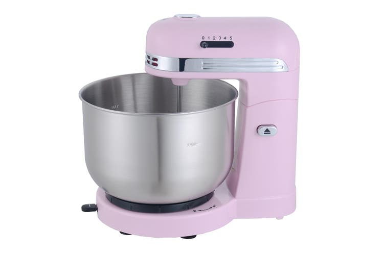 TODO 350W 5 Speed Electric Stand Mixer W/ 3.5L Stainless Steel Bowl Retro Pink T-Sm780