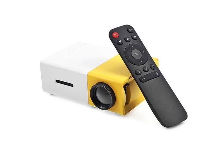 600 Lumens Mini Led Home Theatre Projector Full Hd 1920X1080 Portable - Yellow White