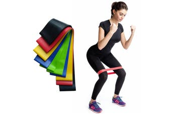 Exercise Pilates Yoga Loop Resistance Band Workout Physio Stretch Aerobics 5 Set