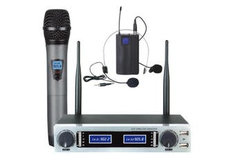 Uhf Microphone Dual Channel Mic + Headset Usb Rechargeable Tc-Hl502U