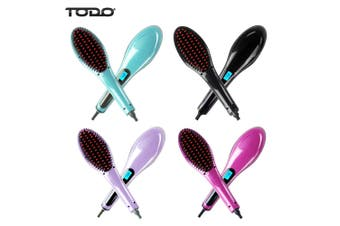 Digital Hair Straightener Brush Electric TODO Straightening Anti Frizz Comb