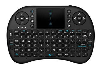 Bluetooth Mini Wireless Keyboard Touchpad Mouse Combo Rechargeable Black