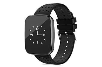 "Bluetooth V4.0 Smart Watch 0.96"" Oled Heart Rate Blood Pressure Ip67 Black"